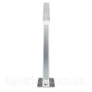 Сенсорная настольная лампа Lightrich TX-180 c беспроводной зарядкой, Silver