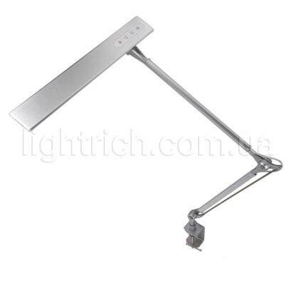 Настільна лампа на струбцині Lightrich C201-S, Silver